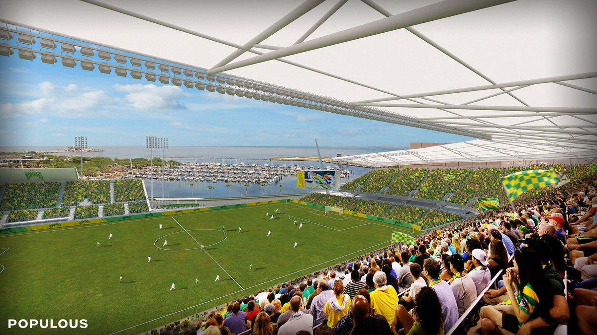 Al Lang Stadium renovation rendering
