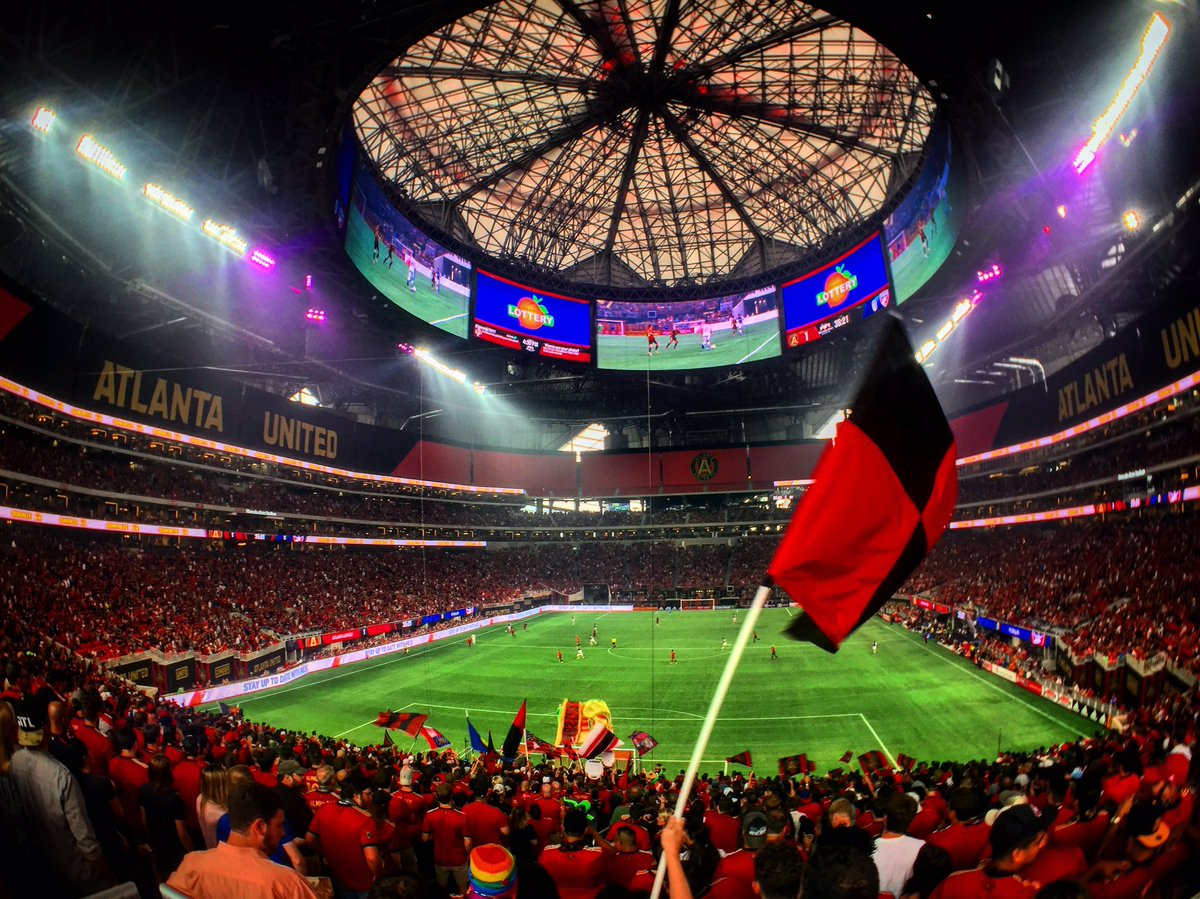 Atlanta united fc poised to break mls attendance record for Mercedes benz stadium layout