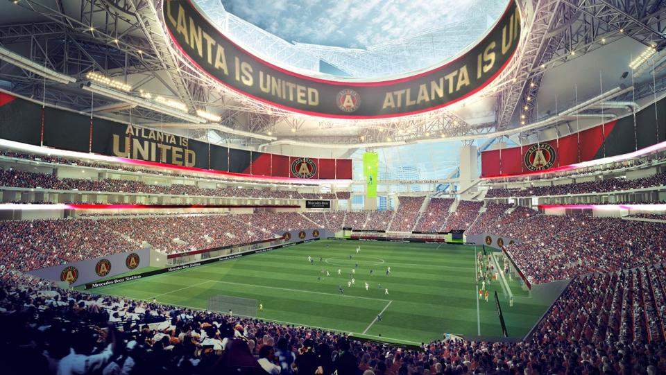 Will mercedes benz stadium construction delays impact 2017 for Hotels close to mercedes benz stadium atlanta ga
