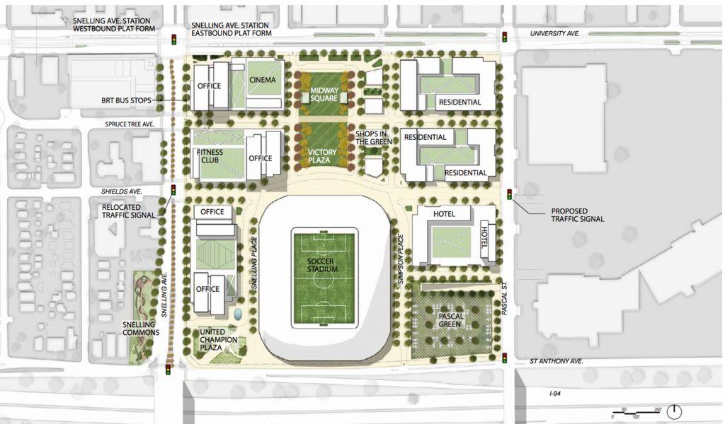 Minnesota United site plan
