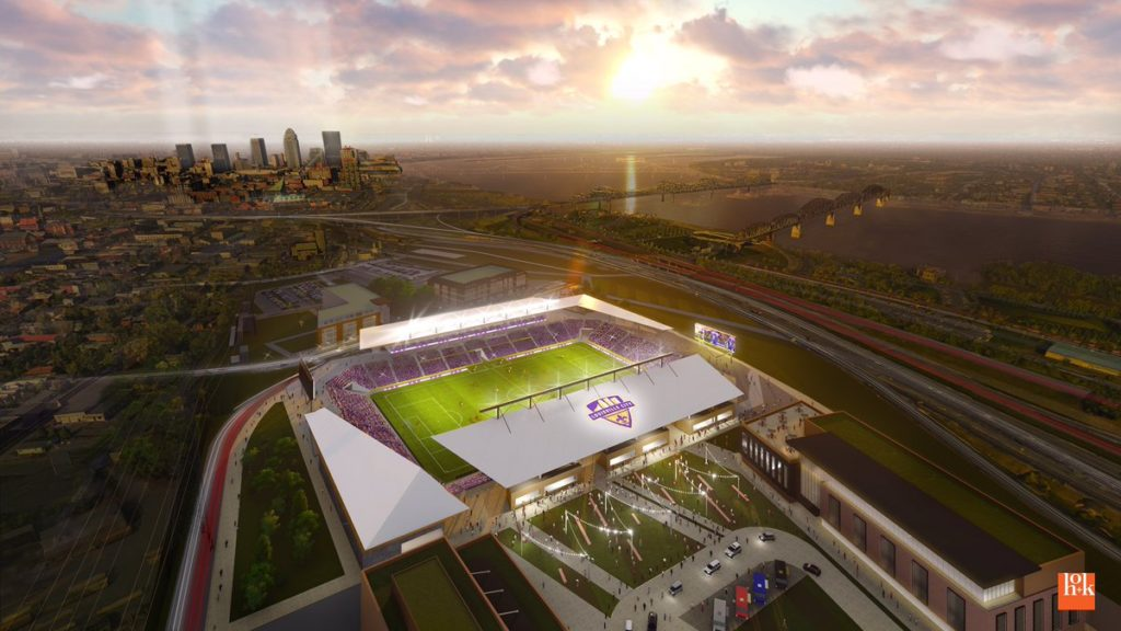 Louisville City FC stadium rendering