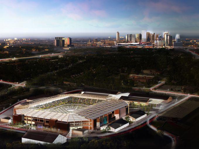 Nashville MLS stadium rendering