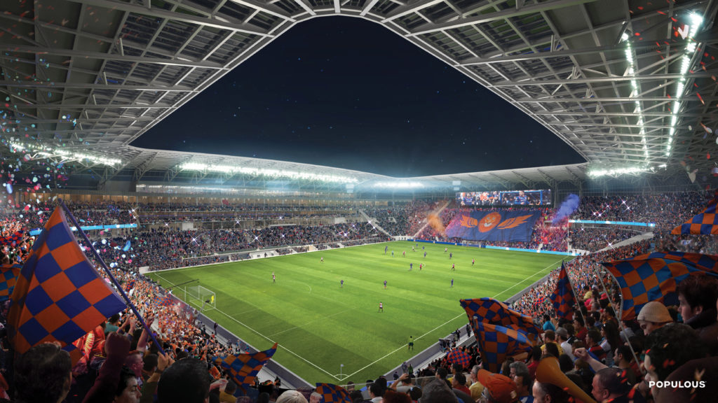 FC Cincinnati Stadium rendering July 2019