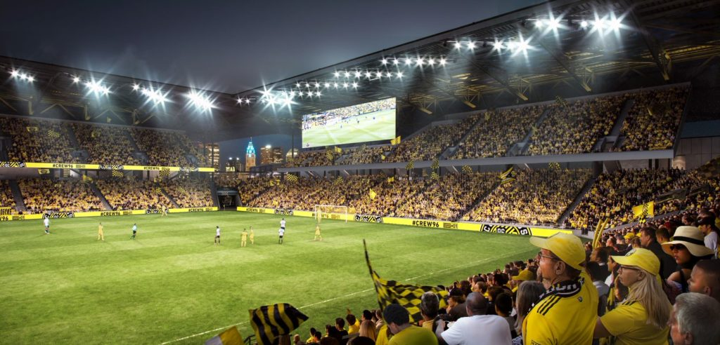 New Columbus Crew Stadium rendering