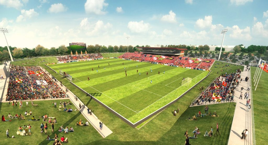Maryland Soccer Stadium rendering